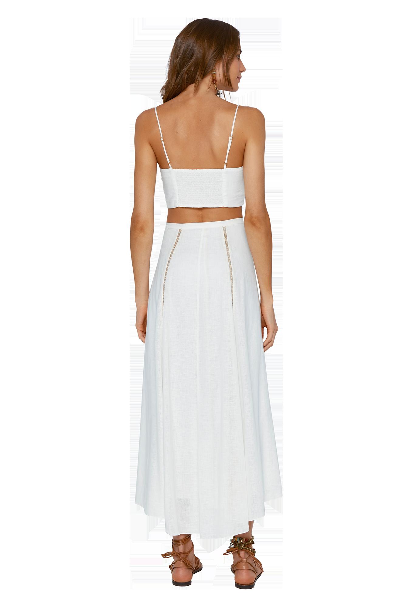 Falda Luma Long White- Image 2