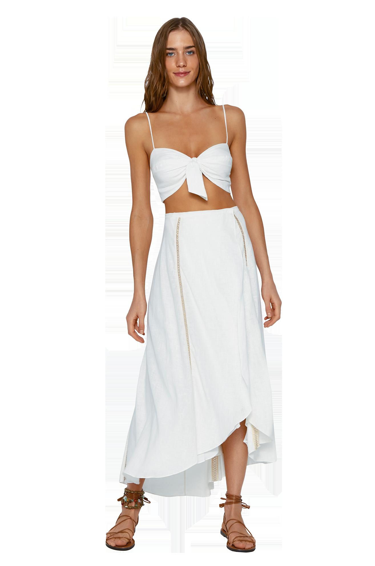 Falda Luma Long White- Image 1