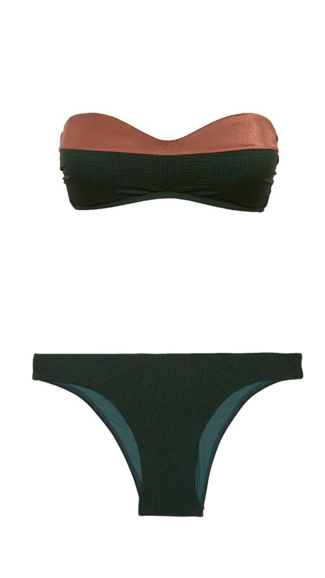 Bikini Amy Bandeau Pine- Image 1