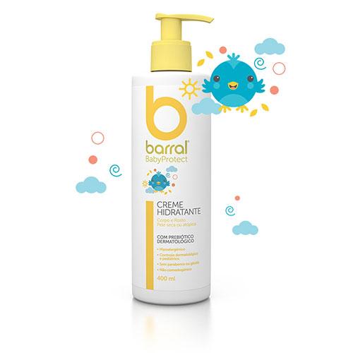 Barral Babyprotec Creme Hidratante 400 mL
