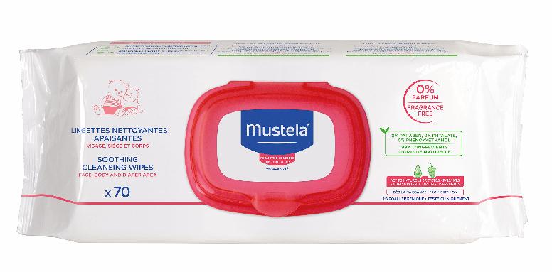 Mustela Bebé Toalhete de Limpeza sem Perfume 70 unidades
