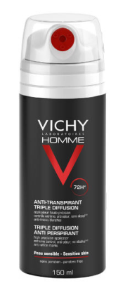 Vichy Homme Spray Desodorizante 72 horas 150 mL