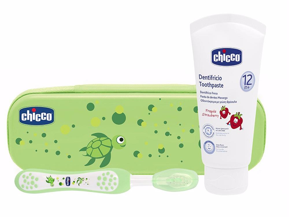 Chicco Estojo Higiene Oral +12 meses Verde