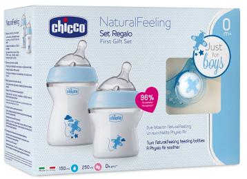 Chicco Conjunto Natural Feeling +0 meses Azul