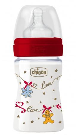 Chicco Benessere Biberão Silicone Edição de Natal +0 meses