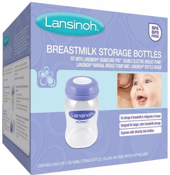 Lansinoh Biberões para Leite Materno 150 mL 4 unidades