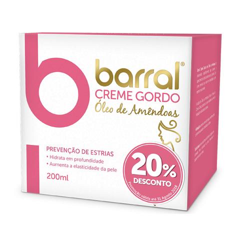 Barral Creme Gordo Óleo de Amêndoas 200 mL (PROMOÇÃO)
