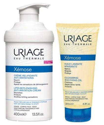 Uriage Xémose Pack Creme Emoliente 400 mL + Óleo 200mL (OFERTA)