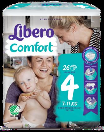 Libero Fralda Confort (T4) x 16         (4.90€/pacote)
