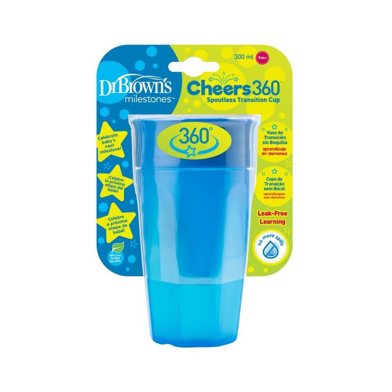 Dr. Brown's Cheers 360 Copo Transição S/Bocal +9 meses 300 mL Azul
