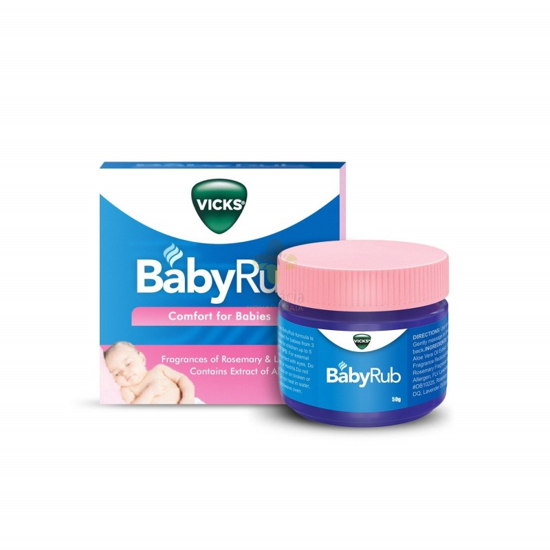 Vicks Babyrub Pomada Hidratante Calmante 50g