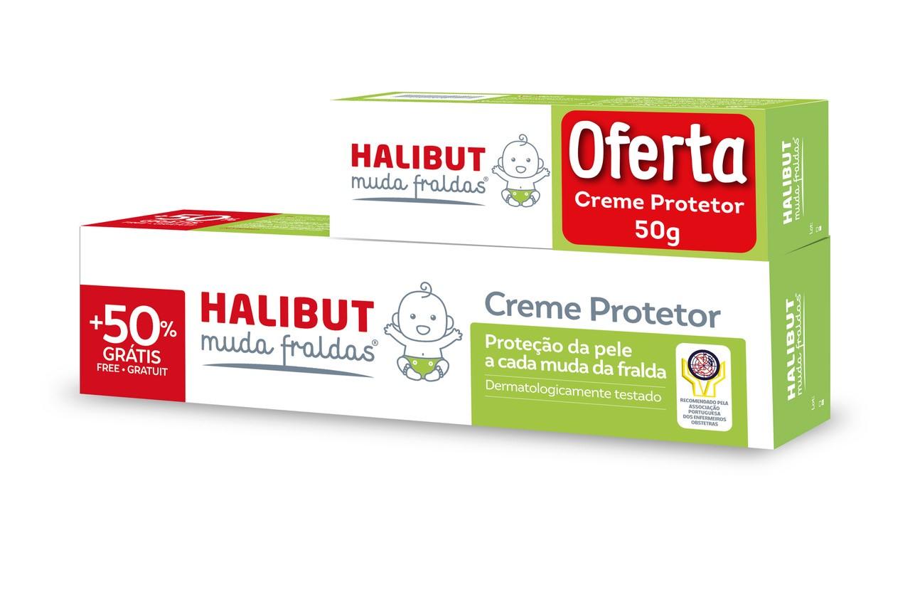 Halibut Muda Fraldas cr protetor 150g + oferta cr protetor 50g