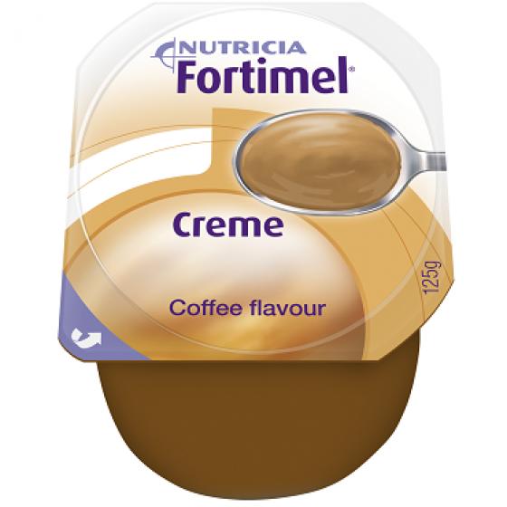 Fortimel Creme Café Pack de 4 pudins, com 125g cada.