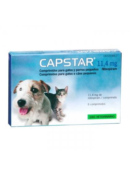 Capstar 11,4 Mg para Cães e Gatos Pequenos x6 Comprimidos