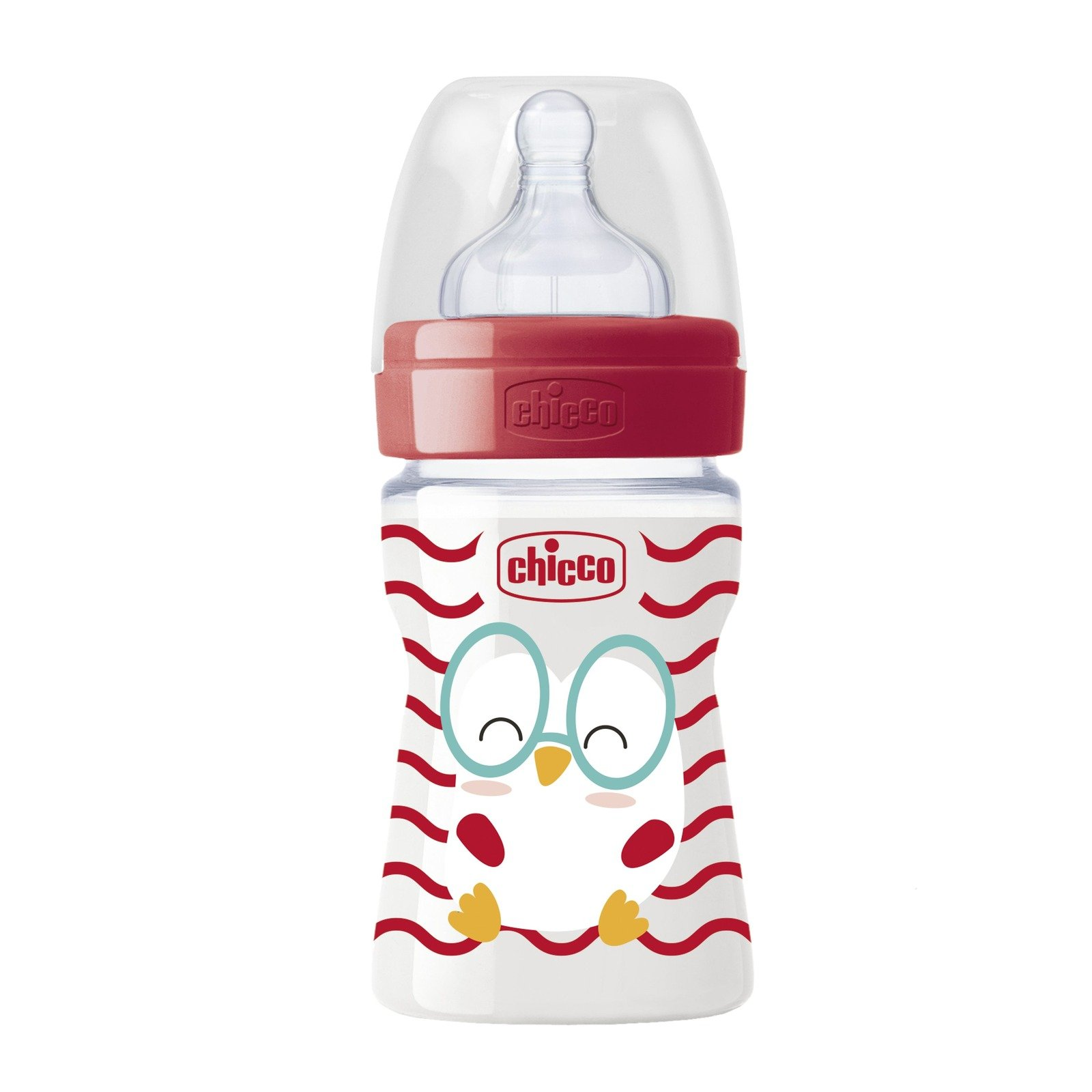 Chicco Biberão Well-Being POP Friends 150ml silicone 0m+