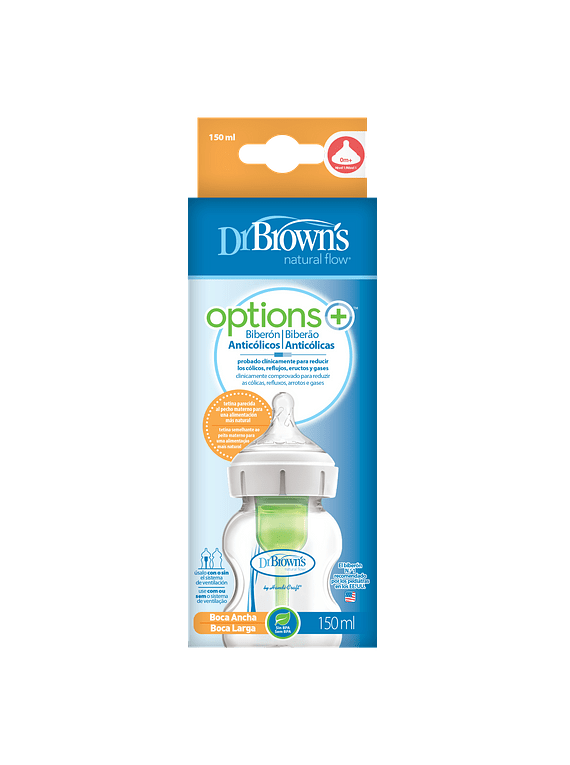 Dr Brown's Options Biberão Tetina de Silicone 150 Ml