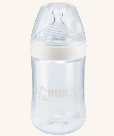 Nuk Nature Sense Biberão de vidro 240ml + Tet Silicone 1m