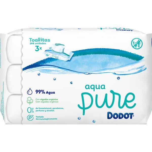Dodot Aqua Pure Trio Toalhetes recarga 3 x 48 unidades com oferta de 3ª embalagem