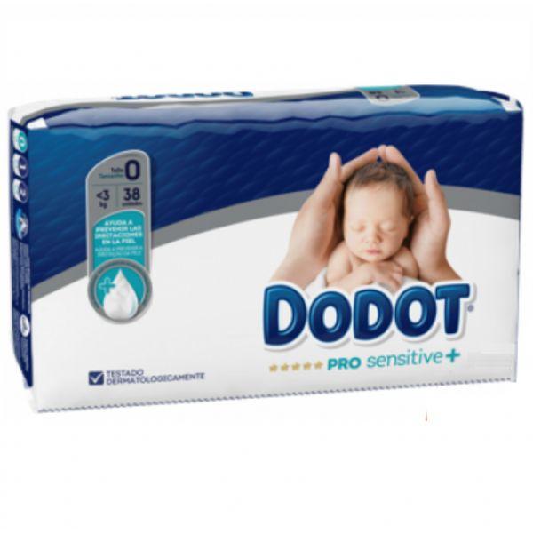 Dodot Pro Sensitive+ Fraldas Tam 0 -  < 3kg (38 unidades)