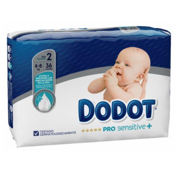 Dodot Pro Sensitive+ Fraldas Tam 2 -   4 - 8 kg (36 unidades)