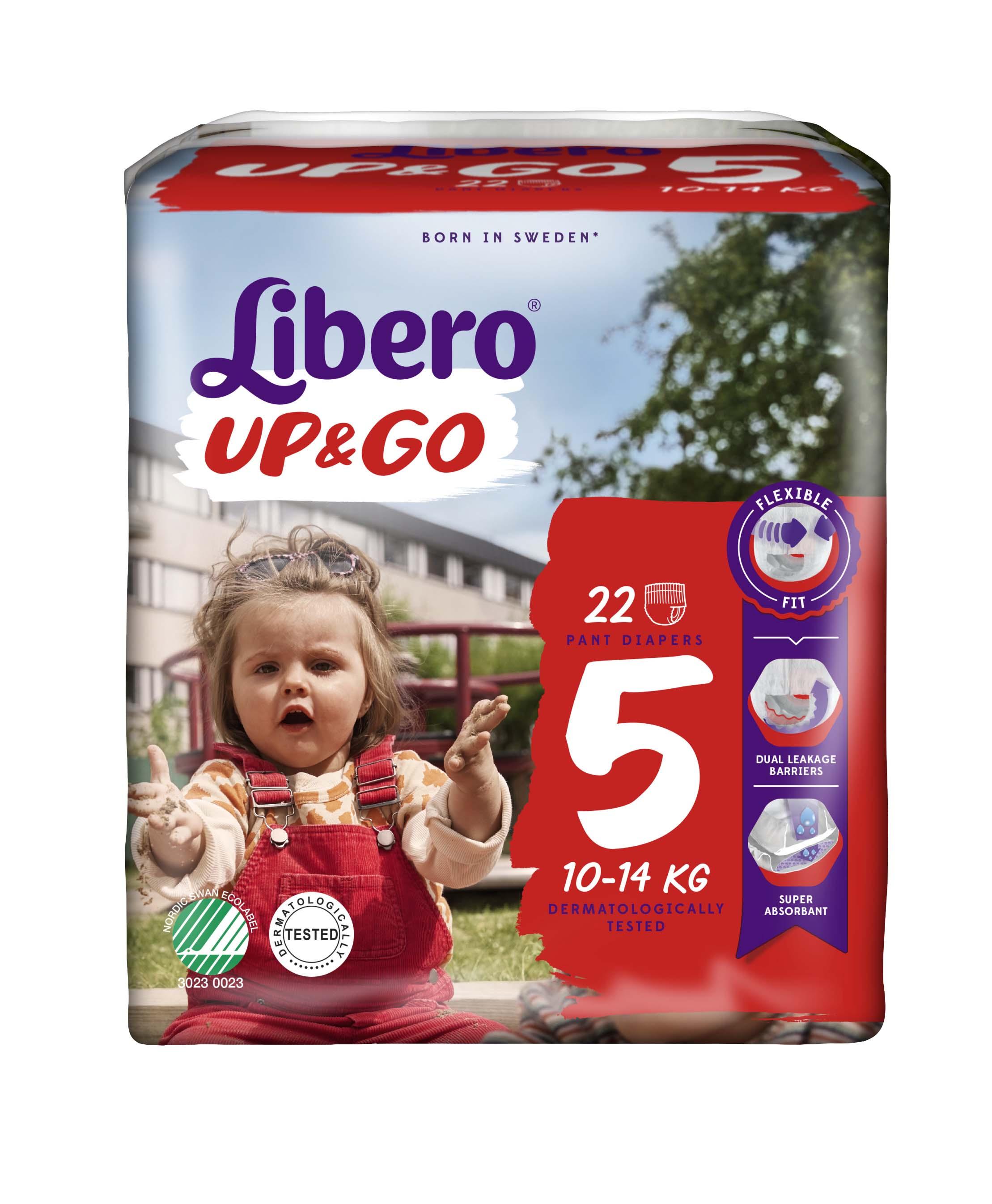 Libero Up&Go Fraldas Tamanho 5 -  10-14 Kg (20 unidades)