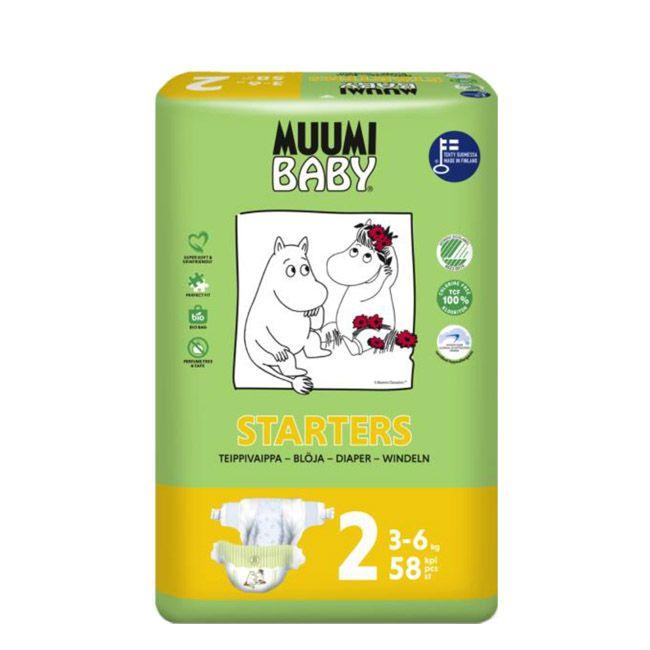 Muumi Baby Tamanho 2 -  3-6 Kg (58 unidades)