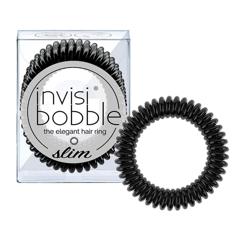Invisibobble Slim Elástico Cabelo Preto x3 Unidades