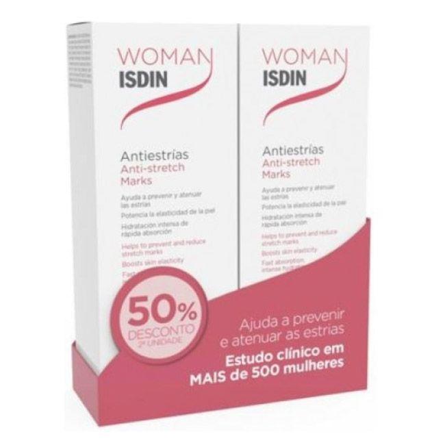 Woman Isdin Duo Creme Corpo Estrias 2 x 250 ml com Desconto de 50%