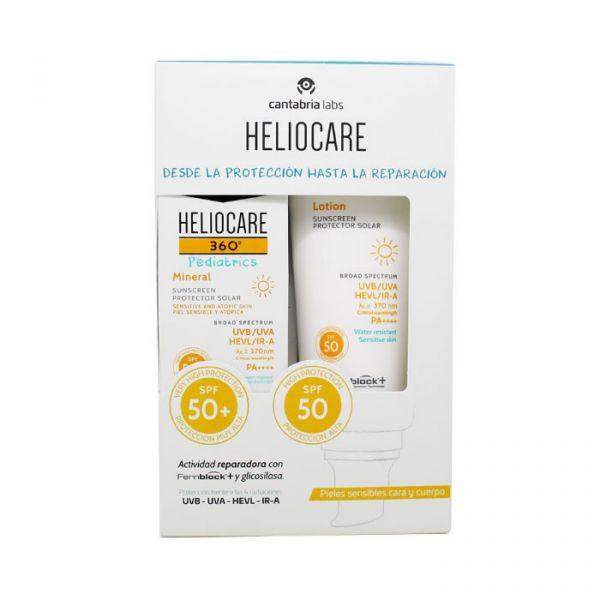 Heliocare 360 Pediatrics Loção SPF50 200ml + Pediatrics Mineral SPF50 50ml