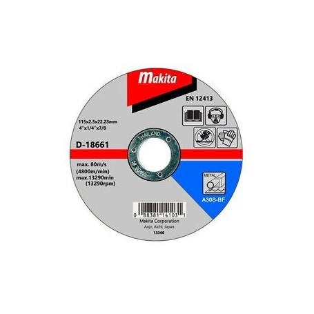 DISCO CORTE METAL MAKITA 4 1/2