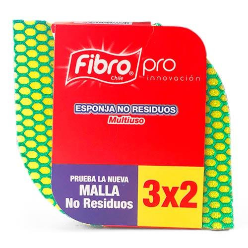 Esponja Fibro Pro 3x2 Verde