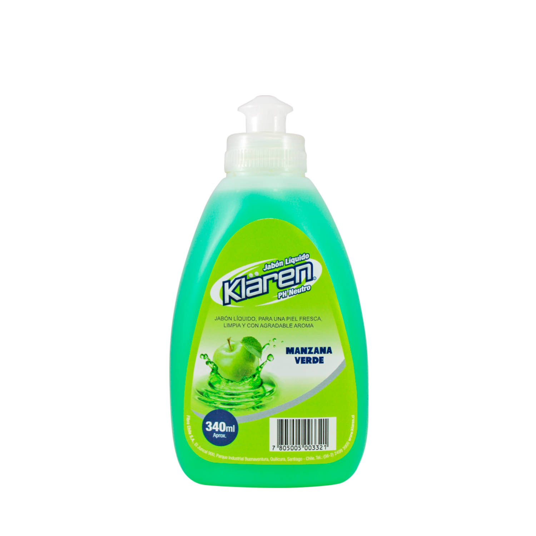 Jabón Líquido Manzana Verde 340 ml