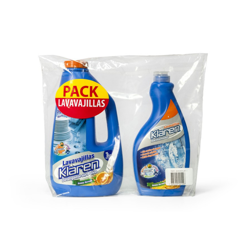 Pack Lavavajilla Detergente + Abrillantador