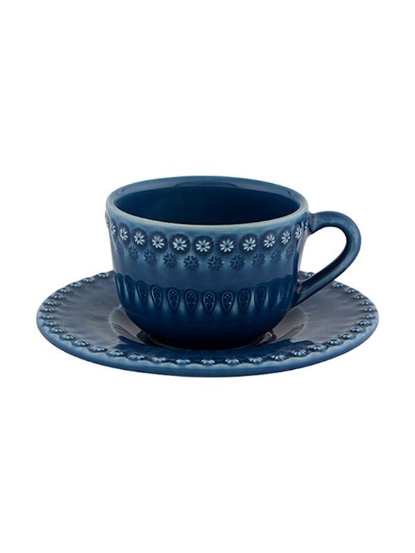 Fantasia - Chávena chá c/pires Azul