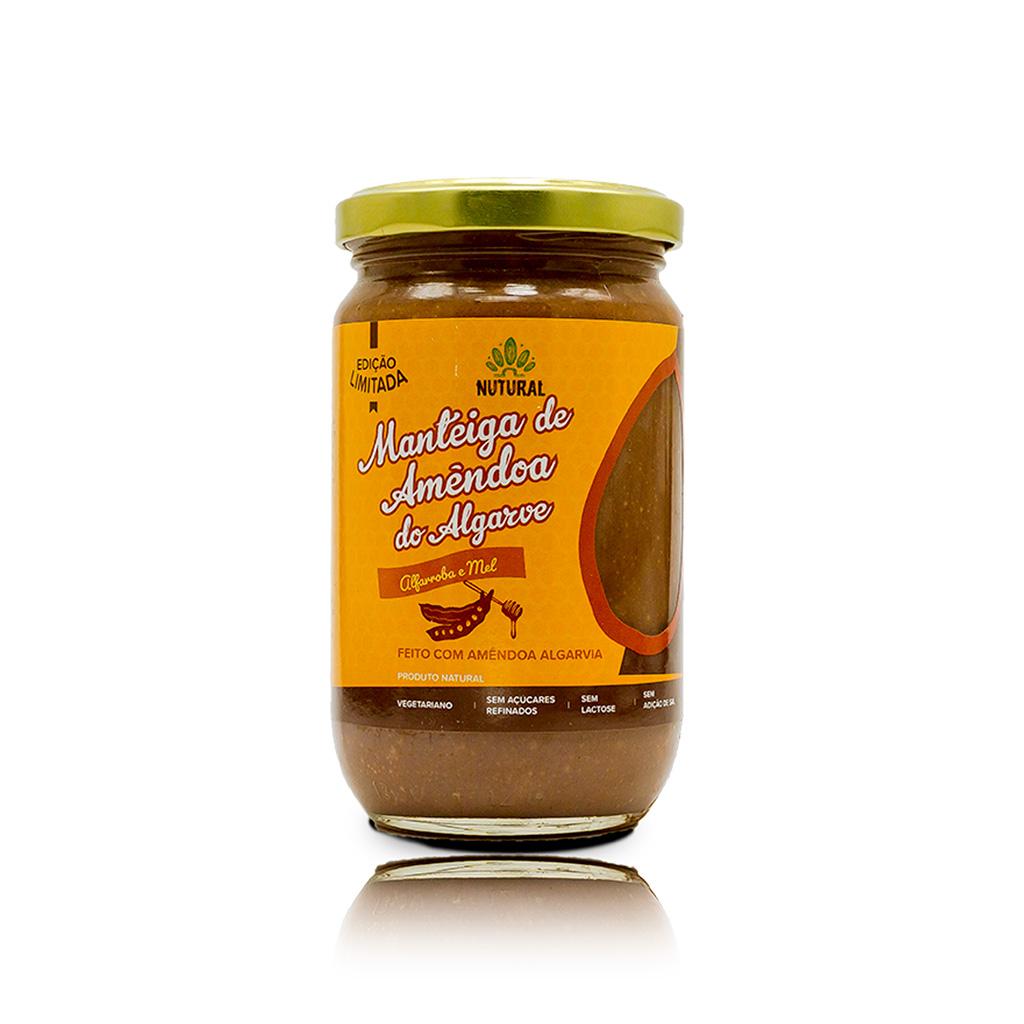 Manteiga de Amêndoa do Algarve - Alfarroba e Mel