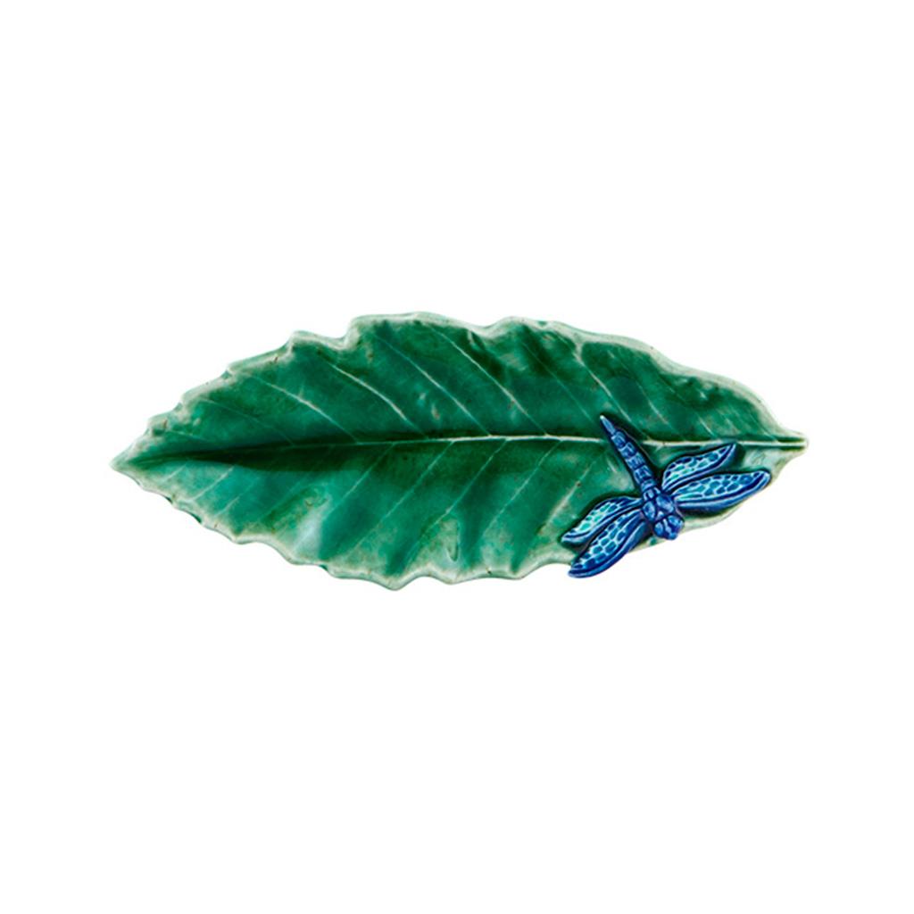 Folhas do Campo - Folha Castanheiro com Libélula 16cm