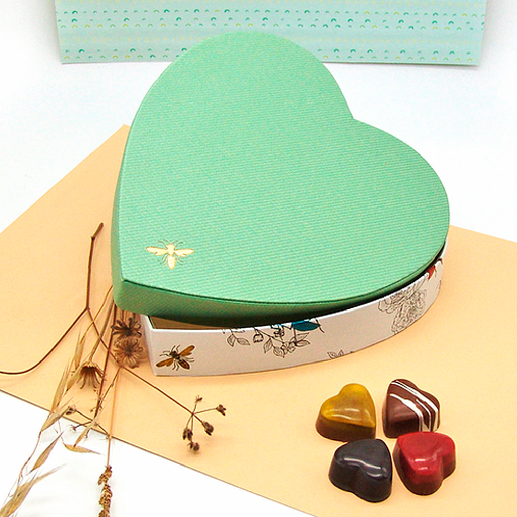 Caixa Coração Libelinha com 25 Bombons