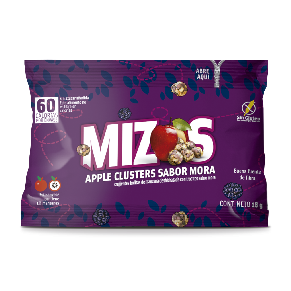 Apple clusters Mora 18grs (28 unidades)