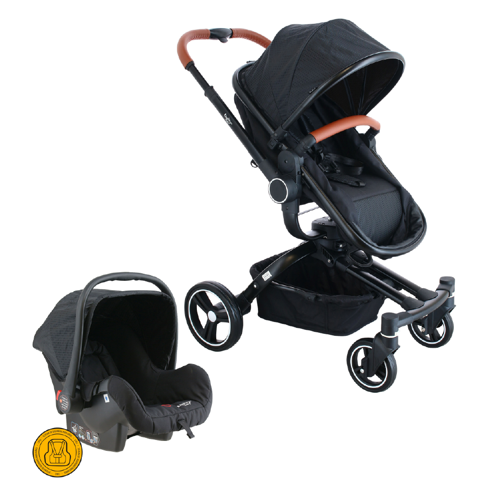 COCHE TRAVEL SYSTEM 360 BABY WAY NEGRO