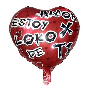 """Globo """"Amor estoy loko de amor x ti"""""""