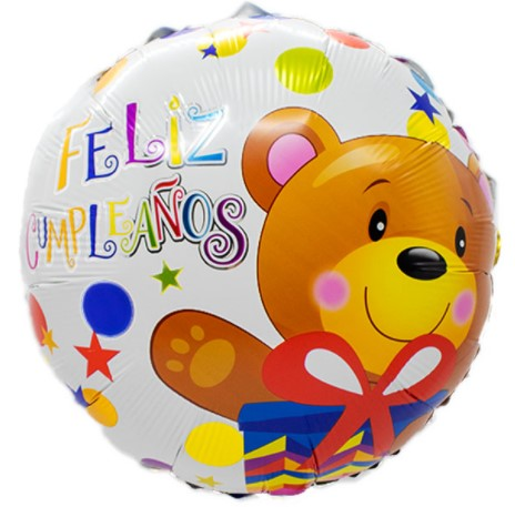"Globo ""Feliz Cumpleaños -Osito"""