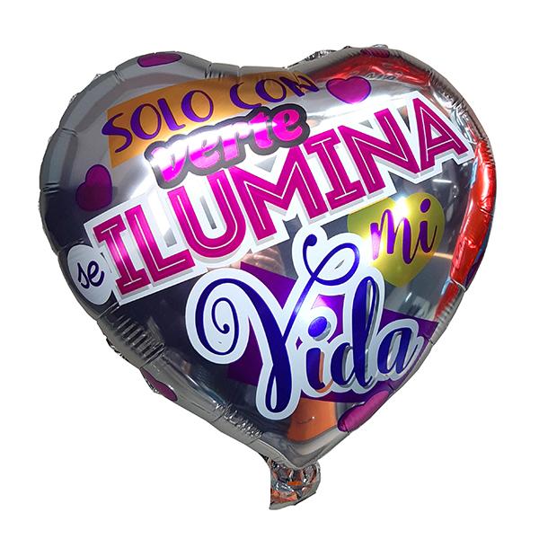 "Globo ""Solo con verte ilumina..."""