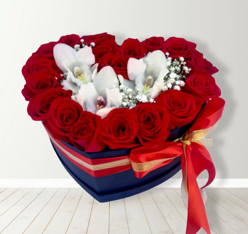 Box de Rosas y Orquídeas