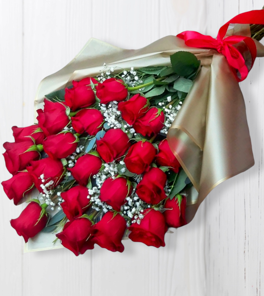 Ramo Tendido con 24 Rosas Rojas