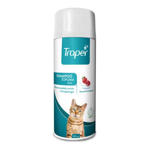 Shampoo Espuma Seca Gato Traper