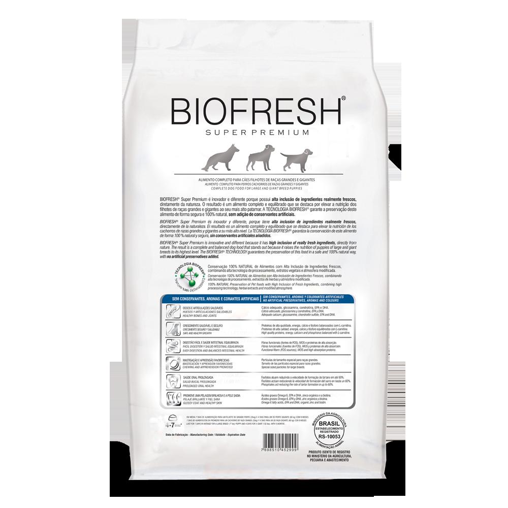 BIOFRESH Cachorro Raza Grande / Gigante 10.1 Kg
