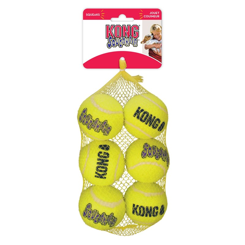 Kong SqueakAir Balls Talla M - 6 unidades