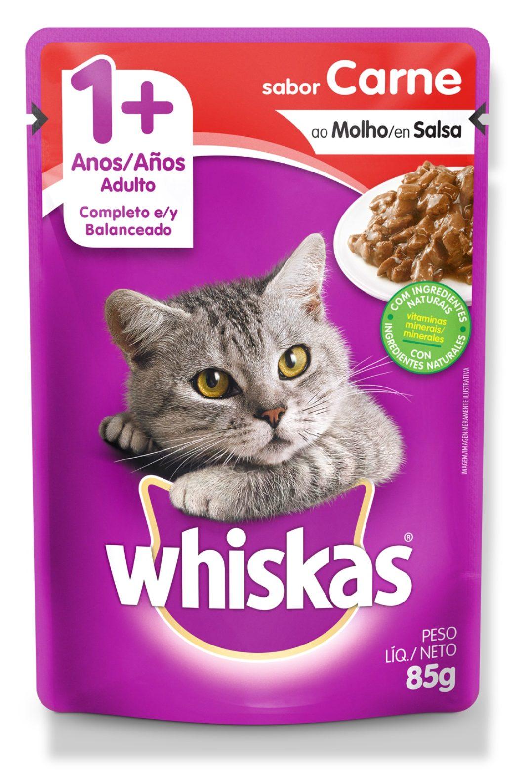 Alimento Humedo Gato Whiskas Carne Adulto
