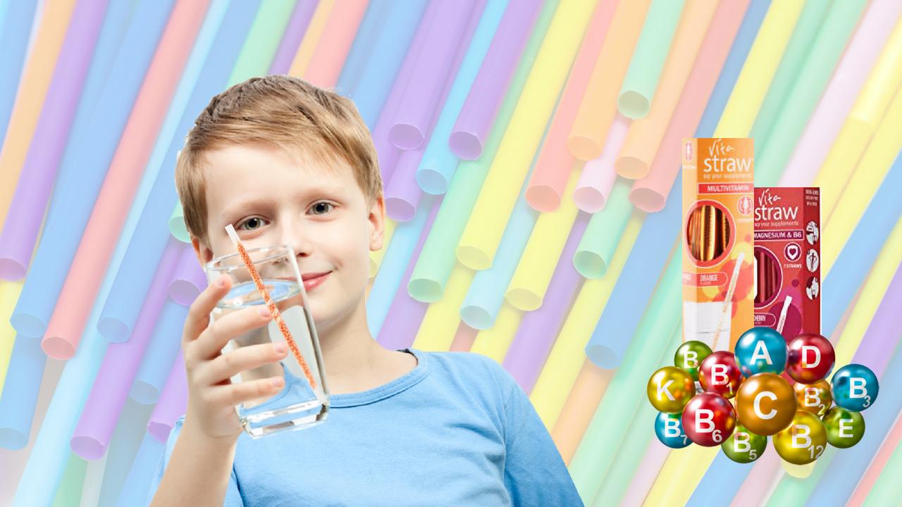 Bebe mais agua com Vitastraw