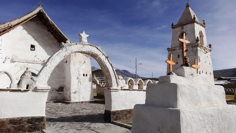Iglesia de Isluga altiplano de Chile